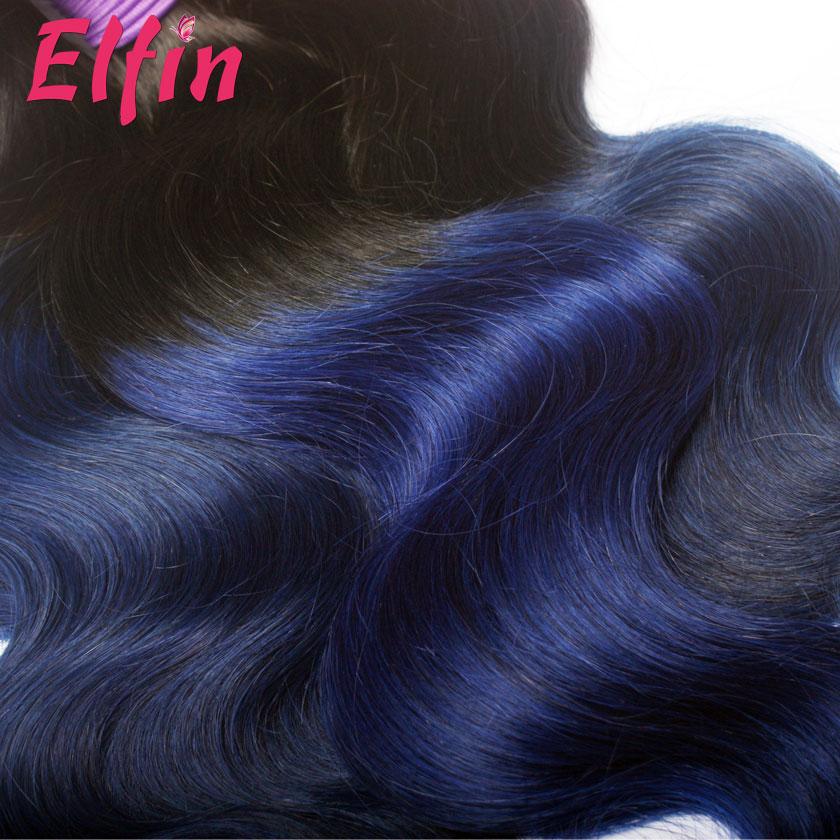 12 26 Inch 1b Blue Ombre Body Wave Brazilian Remy Hair Weave 100